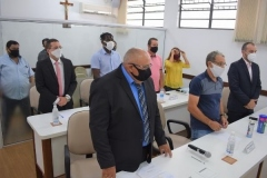 Cerimônia de Posse de Suplente dos Vereadores José Francisco da Fonseca e André Araújo (08 de janeiro de 2021)