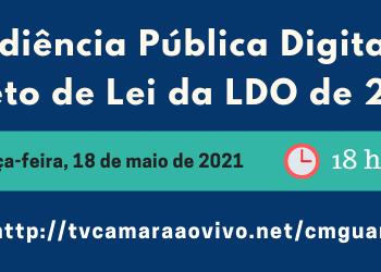 Audiência Pública Digital – Projeto de Lei da LDO de 2022