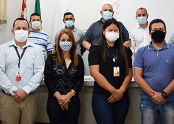 Vereadores recebem a EDP para balanço de ações desenvolvidas em Guararema
